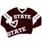 STATE Maroon Jersey Sweater