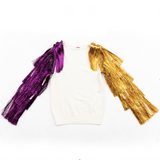 Tinsel Tiger Tassel Sleeve Sweater