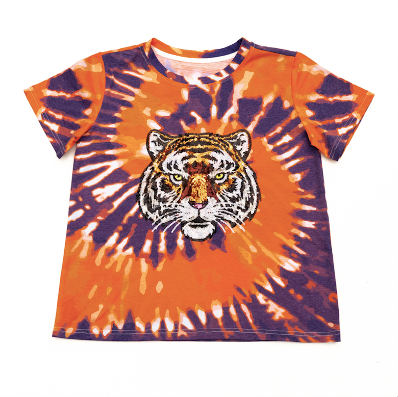 Tie-Dye Orange Tiger Tee