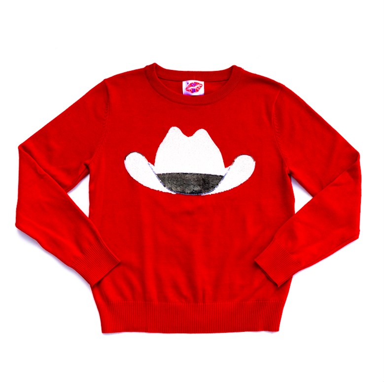 Red Cowboy Hat Sweater