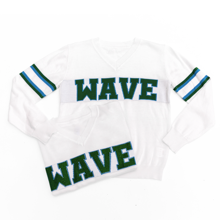 WAVE White Jersey Sweater