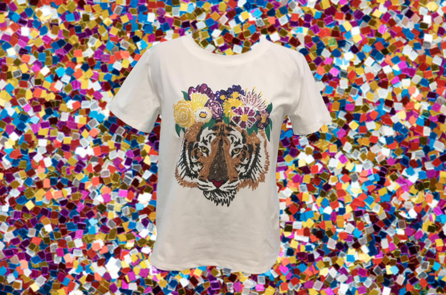 Flower Crown Tiger Tee