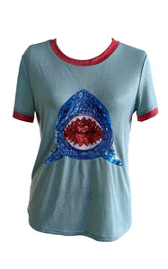 Sparkle Two Tone Shark Glitter Ringer