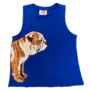 Wrap-Around Blue Bulldog Tank