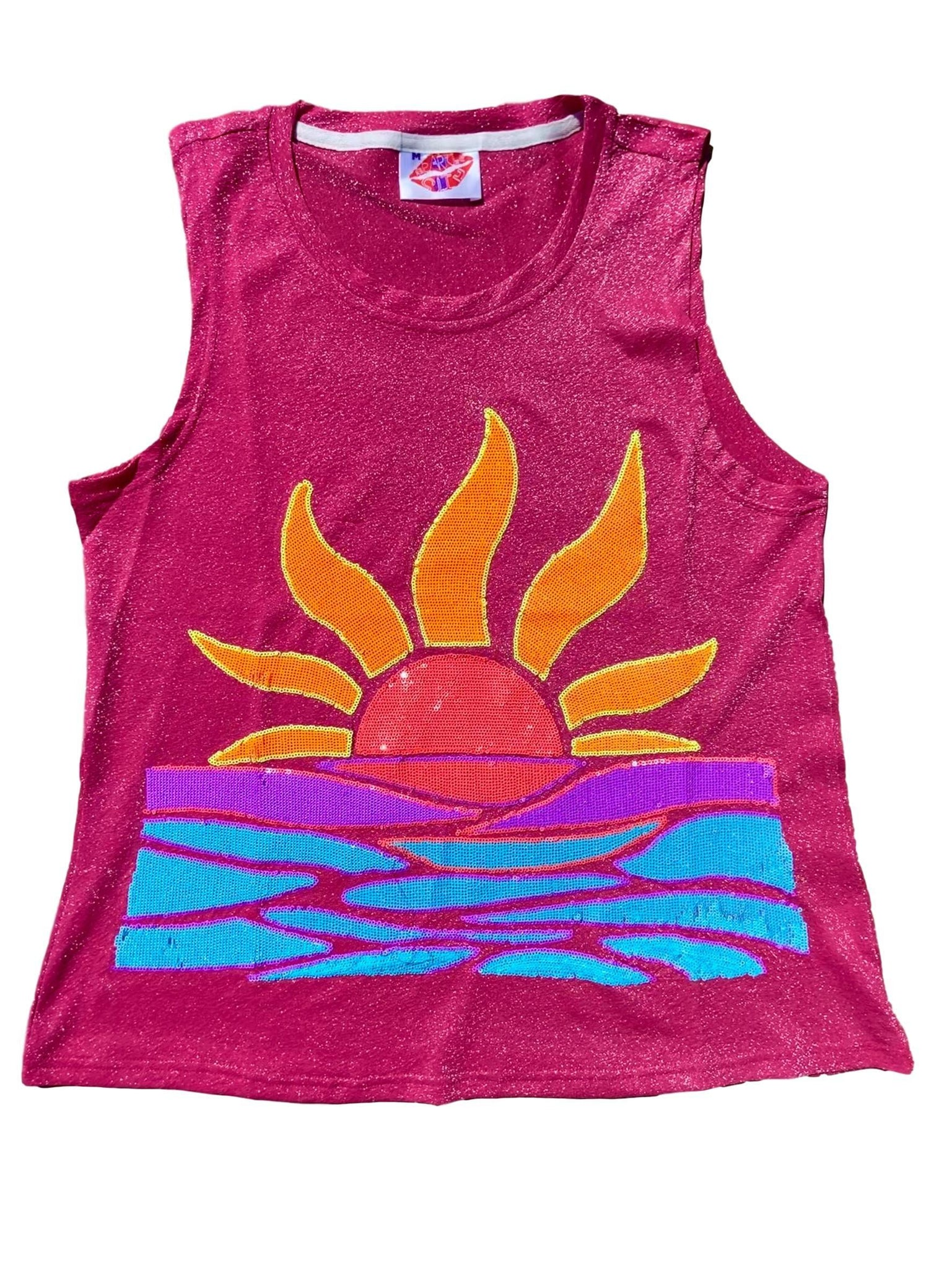 Sparkle Sunset Glitter Tank