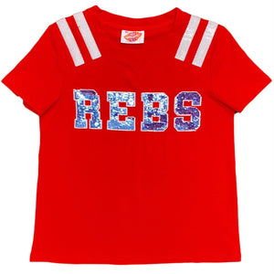 Red REBS Sequin Jersey Tee
