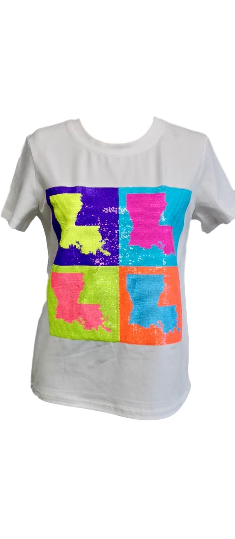 POP Art Louisiana Tee