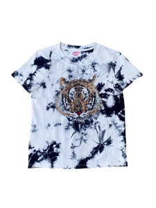 Acid Wash Tie-Dye Tiger Tee