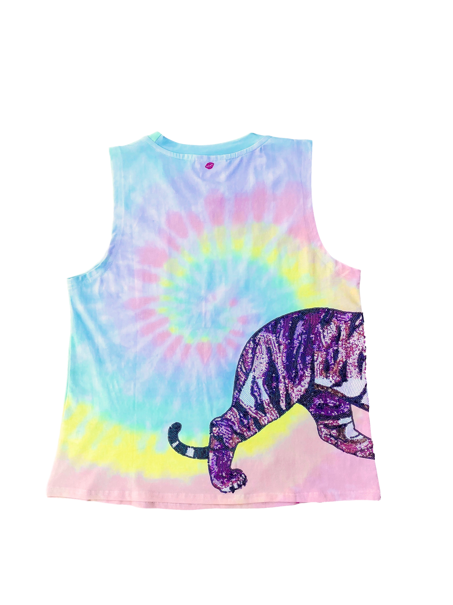 Rainbow Tie Dye Wrap Around Tiger Tank