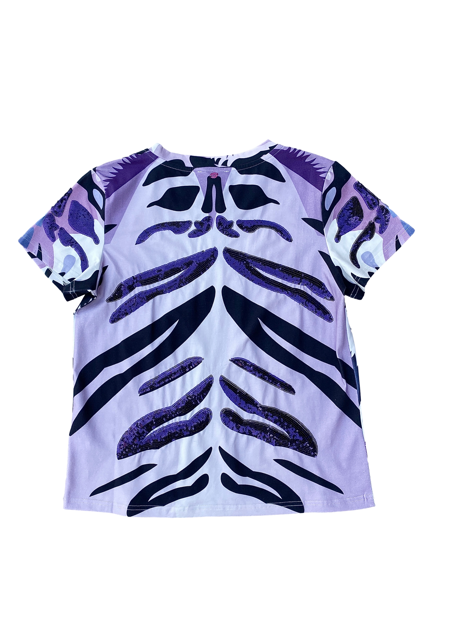 Fancy Face Tiger Tee Purple