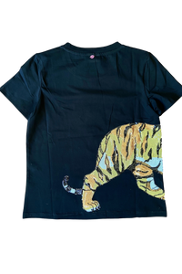 Wrap-Around Tiger Tee Black