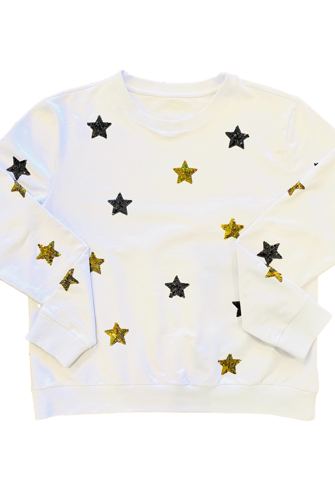 Starry Black and Gold Sweatshirt