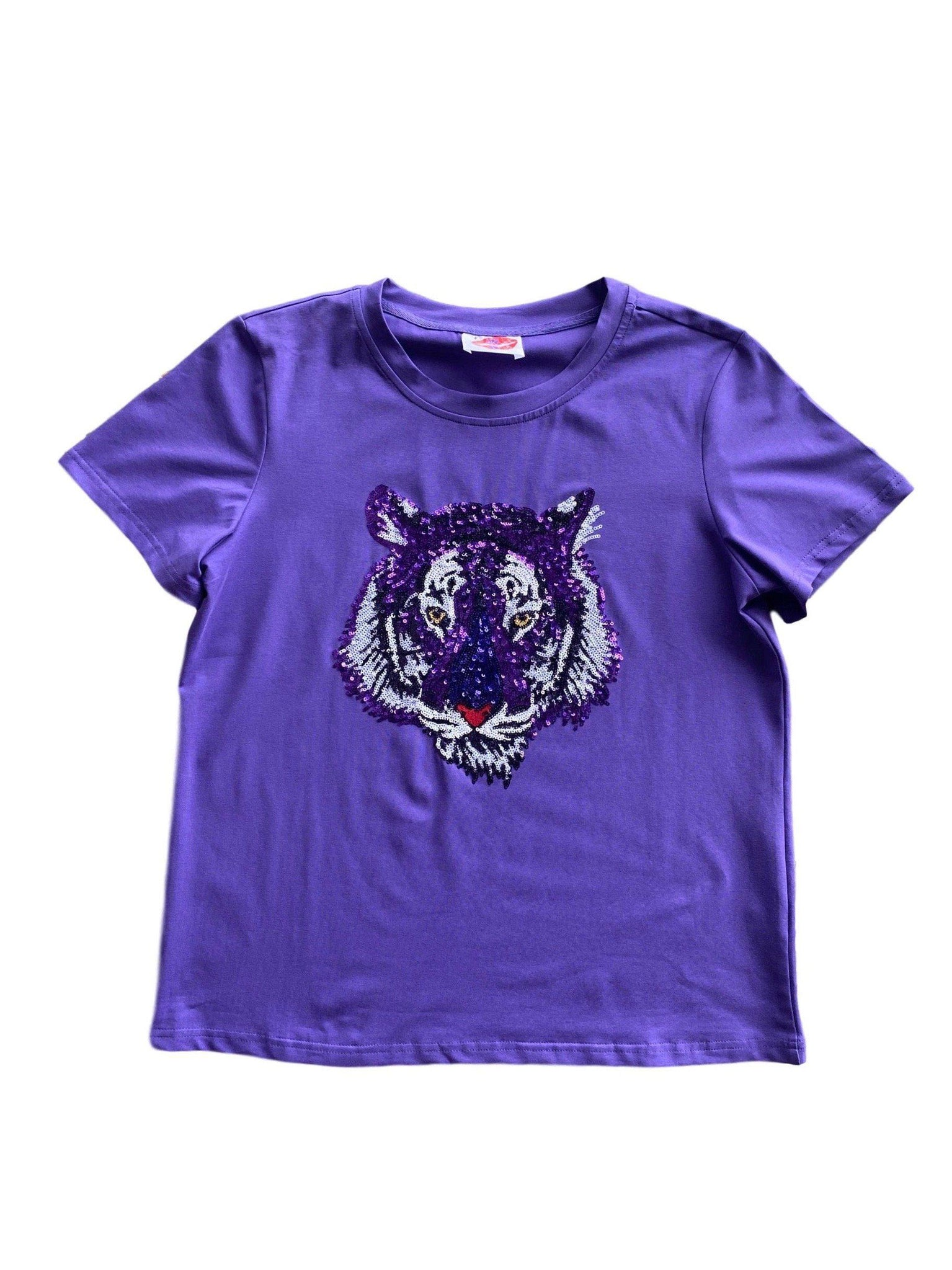 Purple Tiger Head Tee