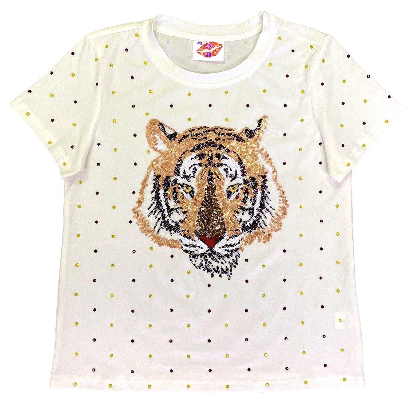 Rhinestone Tiger Head Tee