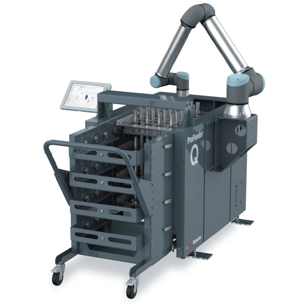 EasyRobotics ProFeeder Q - Machine Tending Platform with Multi-Tray Cart
