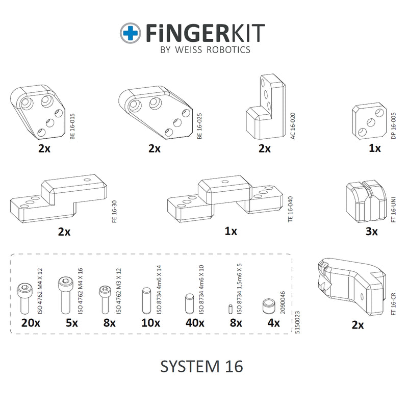 Weiss Robotics FINGERKIT System 16 - Open Box