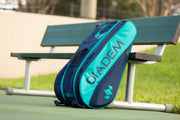 Diadem Tour 12 Pack Elevate Racket Bag (Teal/Navy) - Diadem Sports