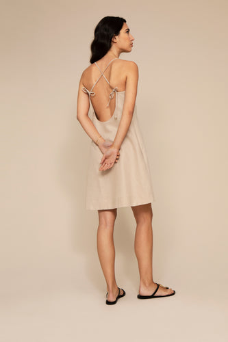 NISSA | organic linen slip dress