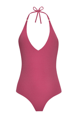Radiate your optimum self in our dazzling AURA one-piece maillot. Artfully crafted to illuminate all skin tones this elegant V-neck style comes with an adjustable neck-tie that gracefully dips like the setting sun to a lower back accentuated by our golden Sense Swim ® pendant. Complete with full lining, this seamless style generates an immaculate fit in our body sculpting and fast-drying three-dimensional fabric.