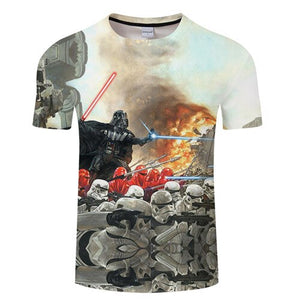 t shir2019 new premium men's t-shirts Star Wars cartoon costumes movie t-shirts, harajuku adult darth vader funny men's t-shirts