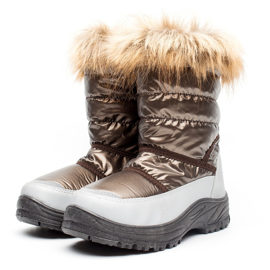 High Tube Snow Boots Women Waterproof