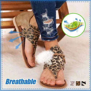 (Last day 50% OFF) Women's Retro Leopard Zip Flip-flop Sandals [Spring SALE: Pay 2 Get 3]