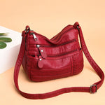 (New Arrival Promotion 50% OFF) Multi-layer Soft Versatile Bag, Light and Soft Leather, Easy to Travel [Limited Stock]