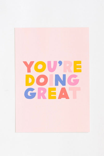Affiche You're Doing Great - jonesie