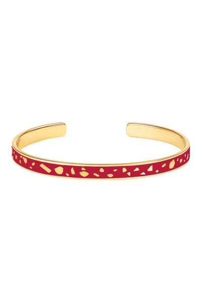 Jonc Lucy Rouge velours Bangle Up