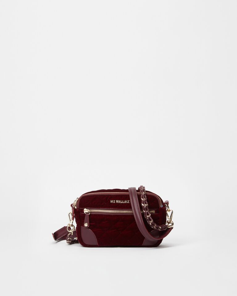 Cartera Mini Crosby Port Velvet