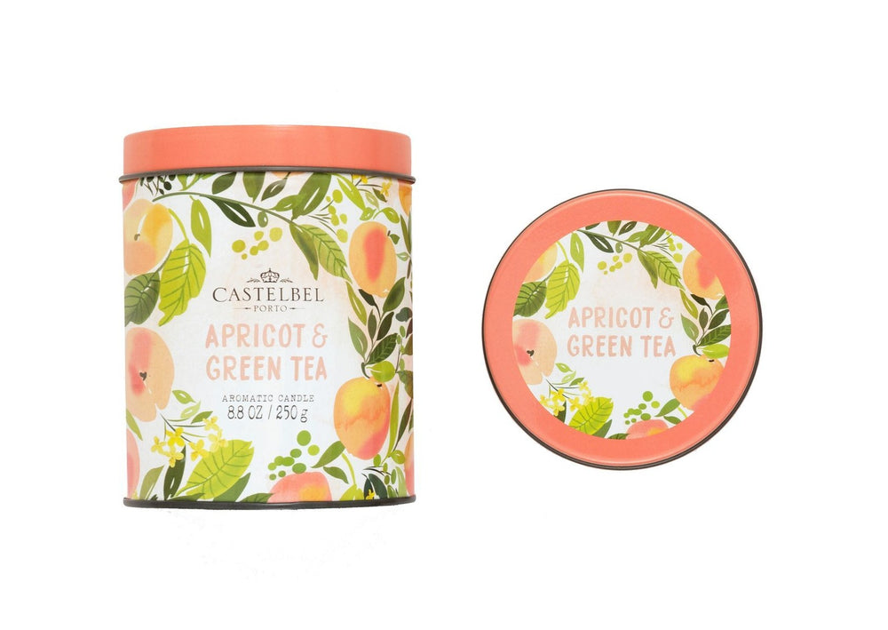 Vela Fruits & Flowers Apricot & Green Tea Candle