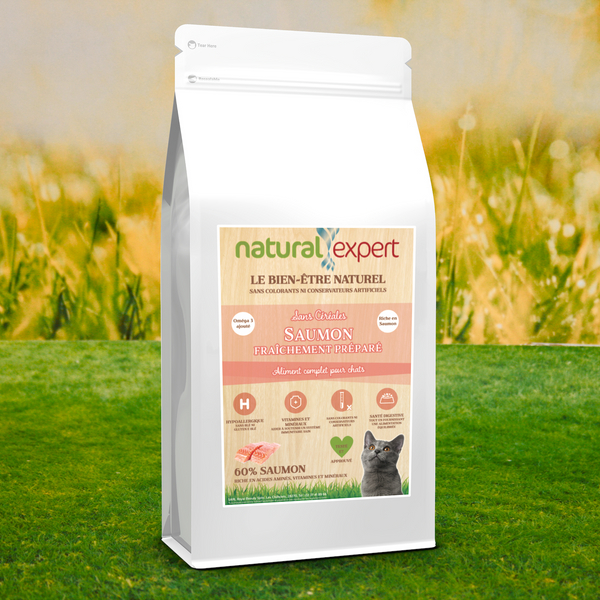 Croquettes NATURELLES Chat 60% SAUMON