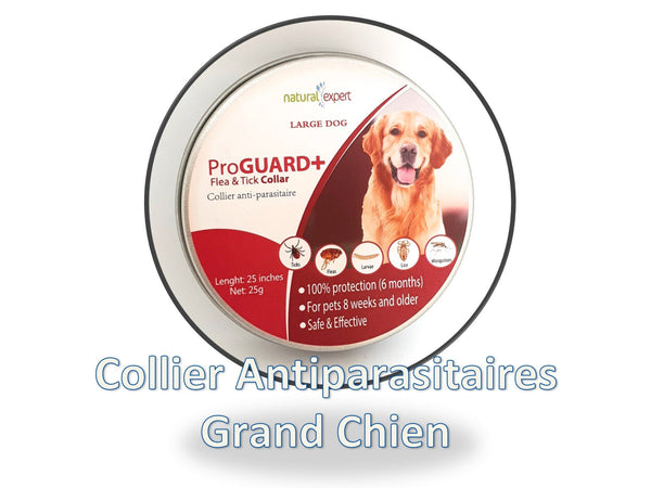 Collier Anti-Parasitaire Chien grande taille