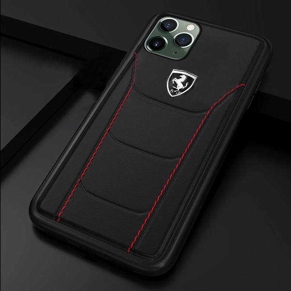 Ferrari ® iPhone 11 Pro Max Genuine Leather Crafted Limited Edition Case