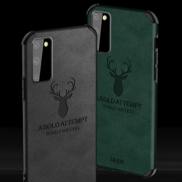 Galaxy S20 Shockproof Deer Leather Texture Cover