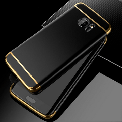 Galaxy S7 Edge (3 in 1 Combo ) Electroplating Case + Tempered Glass + Earphones