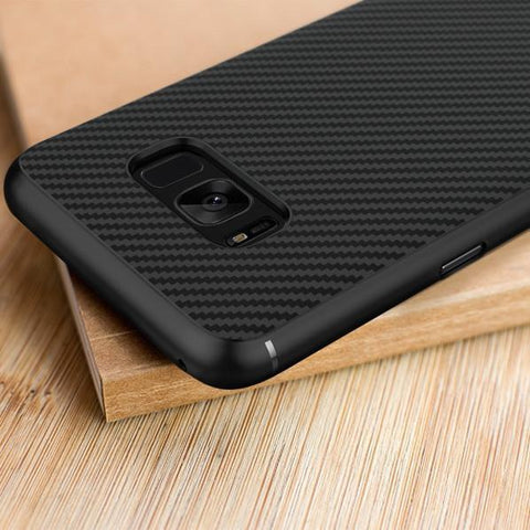 Galaxy S8/S8 Plus (3 in 1 Combo) Nillkin Carbon Case  + Tempered Glass + Earphones