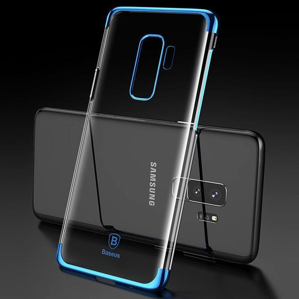 Galaxy S9/S9 Plus (3 in 1 Combo) Sparkling Case + Tempered Glass + Earphones