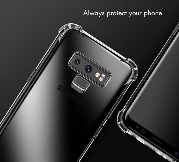 Galaxy Note 9 (3 in 1 Combo) Clear View Silicone Case + Tempered Glass + Earphones
