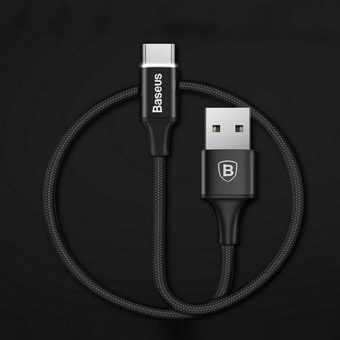 MK® Baseus LED Light Type-C Fast Charge USB Cable