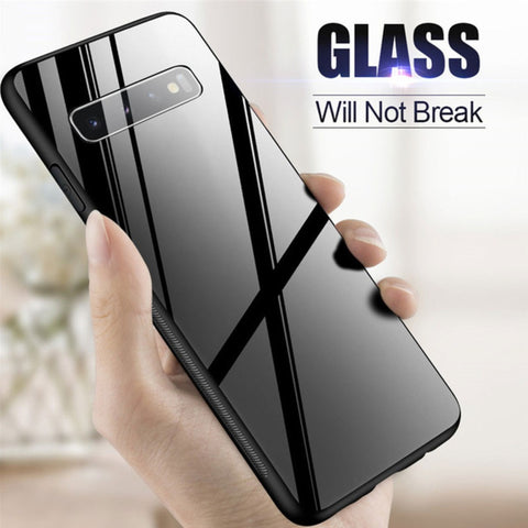 Galaxy S8 Plus (3 in 1 Combo) Glass Back Case + Tempered Glass + Camera Lens Guard