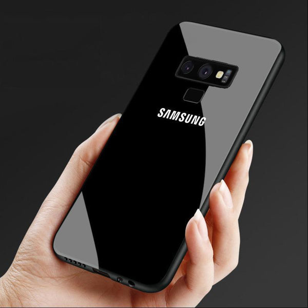 Galaxy Note 9 (3 in 1 Combo) Glass Back Case + Tempered Glass + Earphones