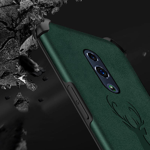 OnePlus 6T Shockproof Deer Leather Texture Case