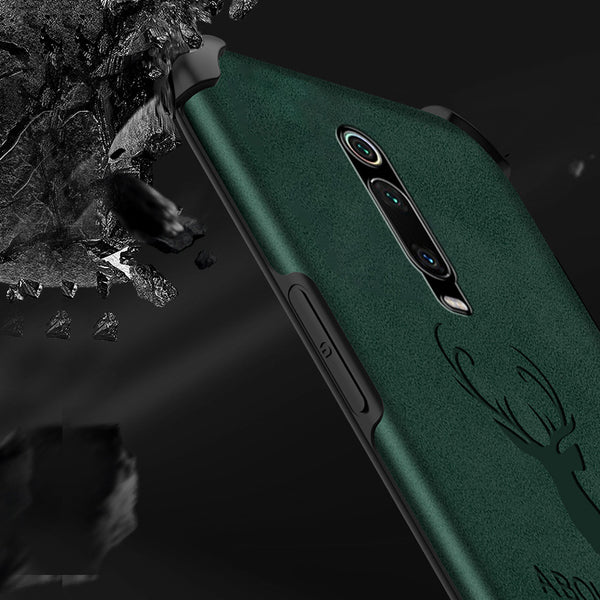 OnePlus 7 Pro Shockproof Deer Leather Texture Case