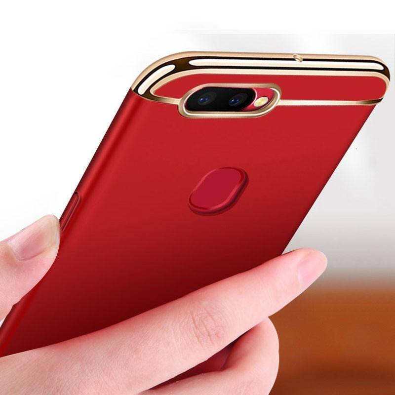 OnePlus 5T Electroplating Matte Case (3 in 1 Combo) + Tempered Glass + Earphones