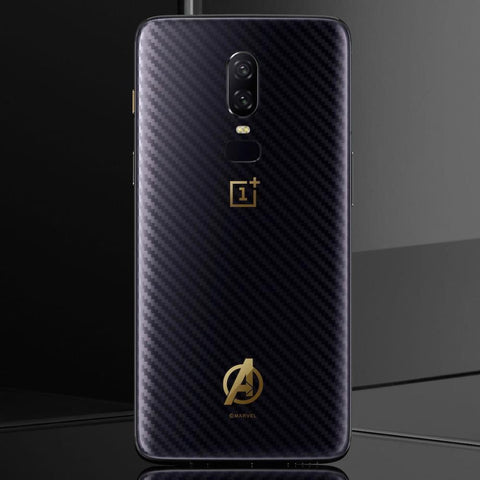 OnePlus 6 (3 in 1 Combo) Avengers Ultra-Slim Skin Case + Tempered Glass + Camera Lens Guard