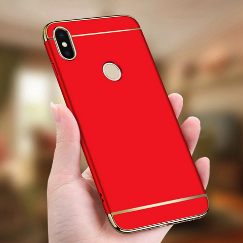 Mi A2 Luxury Electroplating 3 in 1 Matte Case