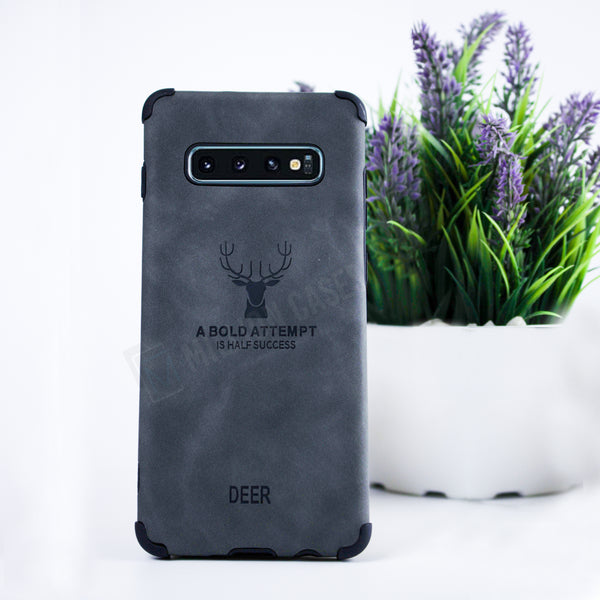 Galaxy S10 Plus Shockproof deer leather texture cover