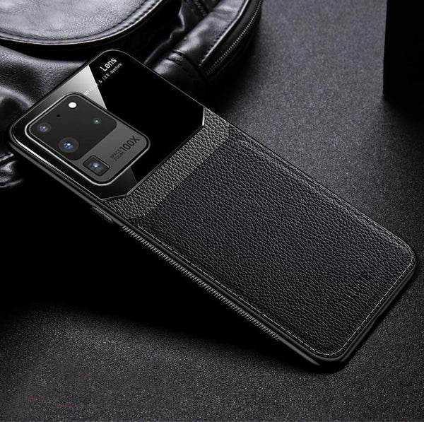 Galaxy S Series Sleek Slim Leather Glass Case