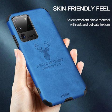 Galaxy S20 Ultra Shockproof Deer Leather Texture Cover